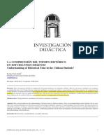 Valledor, L (2013). Investigación Didáctica. La Comprensión Del Tiempo Histórico en Estudiantes Chilenos