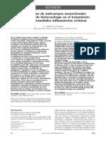 Aplicaciones de anticuerpos monoclonales y productos de biotecnología en el tratamiento de las enfermedades inflamatorias crónicas