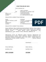 2 Contoh Surat Perjanjian Gadai Mobil Terbaru Format Word