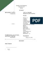 Benjamin E. Sanga vs. Florencio SJ. Alcantara and Sales T. Bisnar