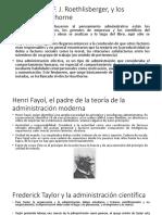 Frederick Taylor y la administración científica