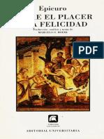 EPICURO-SOBRE EL PLACER Y  LA FELICIDAD.pdf