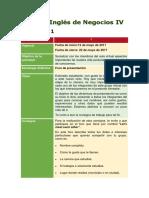 Consignas de Inglés de Negocios IV