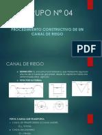 Procedimiento Constructivo de Un Canal de Riego- Parte Introductoria.
