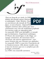 Abonnement Revue Nrf