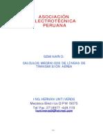 Calculo Mecánico de linea de transmisión aérea