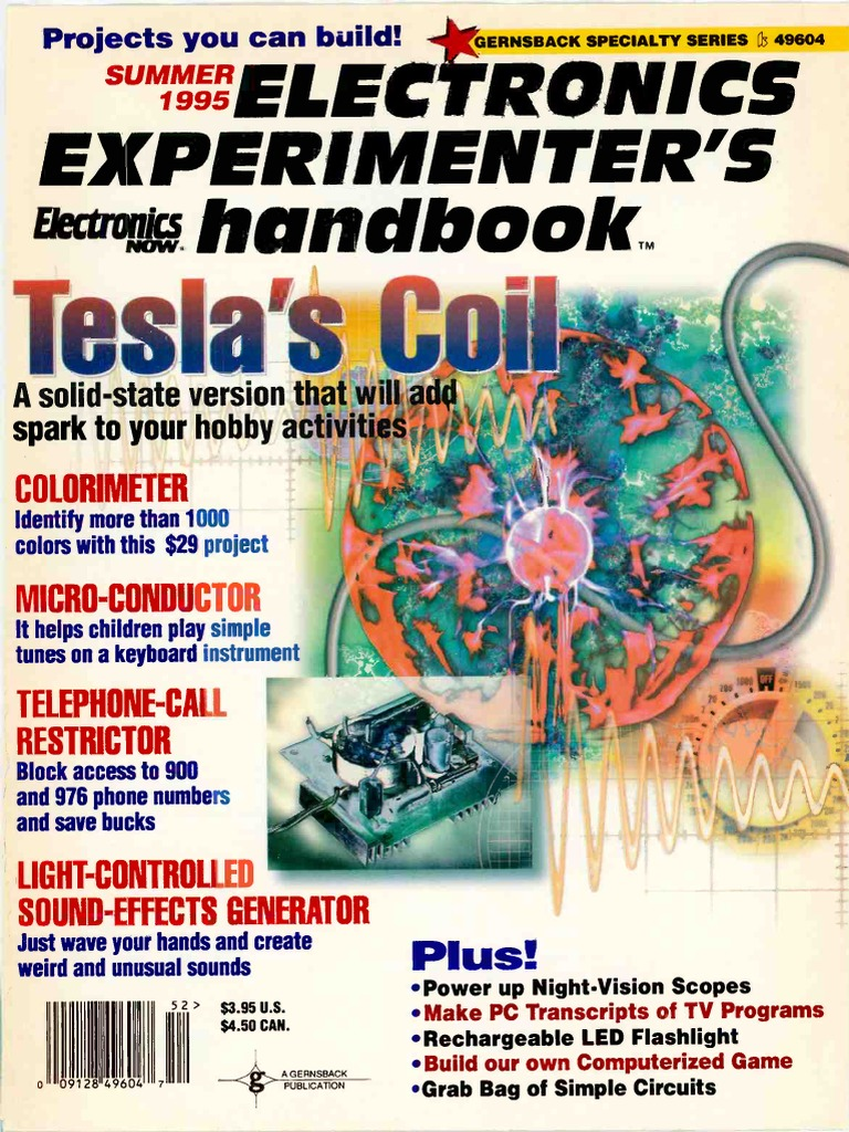 Electronics Experimenters Handbook 1995 Summer Telephone Ibm Pc Watch Dog For Telephones By Ne555 Compatibles