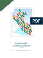 Centralización Económica Del Perú