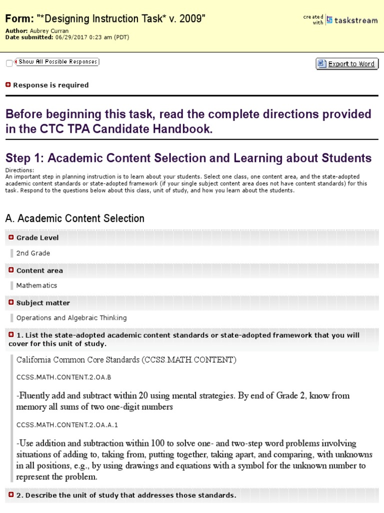 Tpa2 Homework English As A Second Or Foreign Language