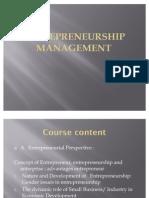 Enrerprenurship Management