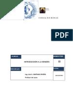 Clases de Introduccion a La Mineria 2013