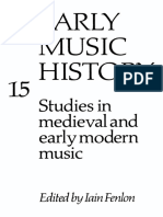 Early Music History, Vol. 15 (1996)