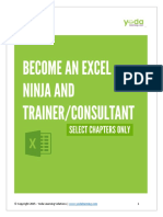 Become and Excel Ninja -eBook Select Chapters Only