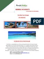 Portblair Propoposal (trip to port blair)