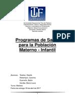 T.P. Plan Materno-Infantil