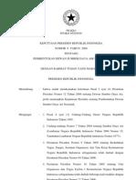 KEPPRES No 6 Tahun 2009 Tentang Pembentukan Dewan Sumber Daya Air Nasional