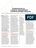 Implementation of Chemical Management System in Apparel Industry