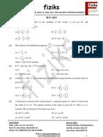 1 HCU Question Paper 2015