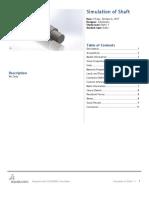 Analisis de eje con solidworks