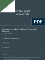 Internships - Aneesh Patil