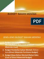 Budget Bahan Mentah