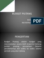 Budget Piutang Dan Utang