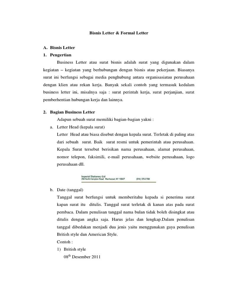 Bisnis Letter