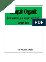 Stiker Sampah Organik Ciwidey