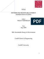 Thesis Distributed Renewable Energy Generation in India