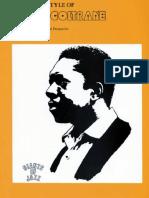 David Baker the Jazz Style of John Coltrane
