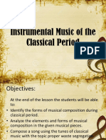 Instrumental Music of the Classical Period