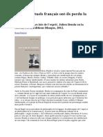 Les Intellectuels Français Ont-ils Perdu La Raison Pascal Engels Roger Puivet