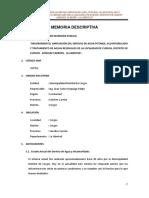 2. Memoria Descriptiva General