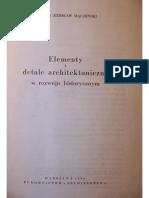 Zdzislaw Mączeński - Elementy i Detale Architektoniczne w Rozwoju Historycznym