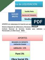 HABERES LIQUIDADCION APORTES Y CONTRIBUCIONES EN ARGENTINA - SECUNDARIO