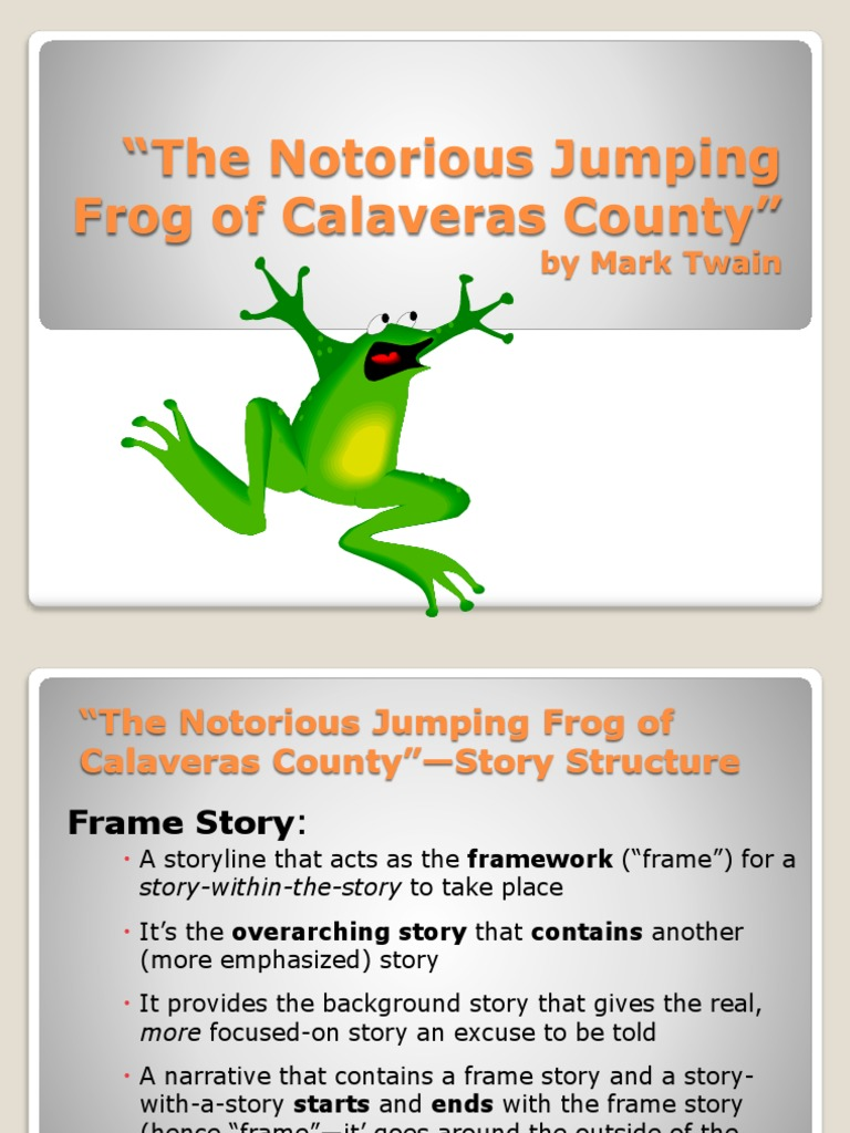 the notorious jumping frog of calaveras