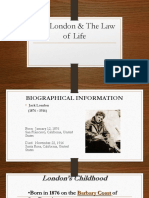 Jack London & the Law of Life