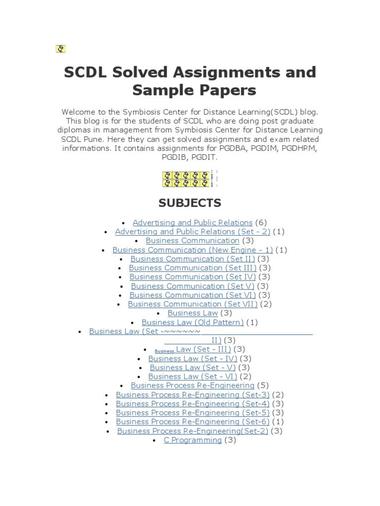 Scdl assignment
