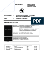 Royaume Du Maroc - Appui Au Programme d'Urgence de l'Éducation Nationale - Rapport d'Évaluation de Projet
