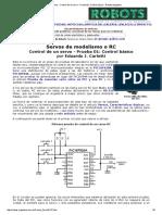 Motores - Control de Un Servo - Prueba 01_ Control Básico - Robots Argentina