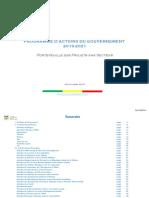 Programme Du Gouvernement