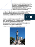 La Independencia de La Ciudad de Guayaquil