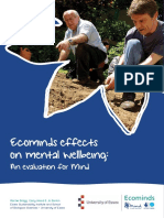 Ecominds Effects on Mental Wellbeing Evaluation Report