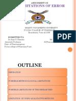 Jitu Limitation of Error Finalj