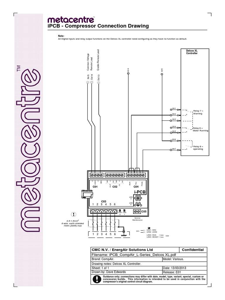 Compair Compressor Wiring Diagram Libraries Pdf Ipcb L Series Delcos Xl Relay Electric Powercompair 12