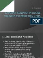 Laporan Kegiatan in House Training Pic Pmkp
