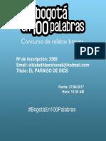 Bogota en 100 Palabras