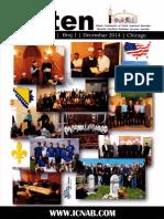 ICNAB Bilten Br 1. - Islamska zajednica Bošnjaka Sjeverne Amerike, Čikago 2014.g.