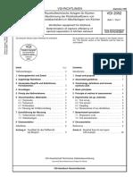 [VDI 2052 Blatt 1-1999-09] -- Raumlufttechnische Anlagen Für Küchen - Bestimmung Der Rückhalteeffizienz Von Aerosolabscheidern in Abluftanlagen Von Küchen