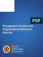 Dmgt402 Management Practices and Organizational Behaviour